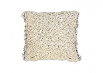 Poduszka dekoracyjna Dori szarobeżowa 45cm