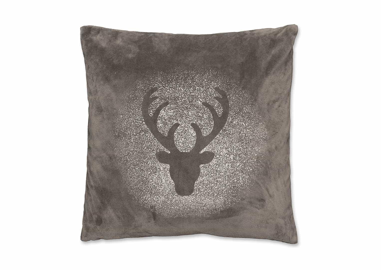 Poduszka dekoracyjna Glitter Rudolph ciemnoszara 45cm