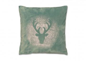 Poduszka dekoracyjna Glitter Rudolph mineralny niebieski 45c...