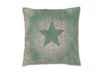 Poduszka dekoracyjna Glitter Star mineralny niebieski 45cm