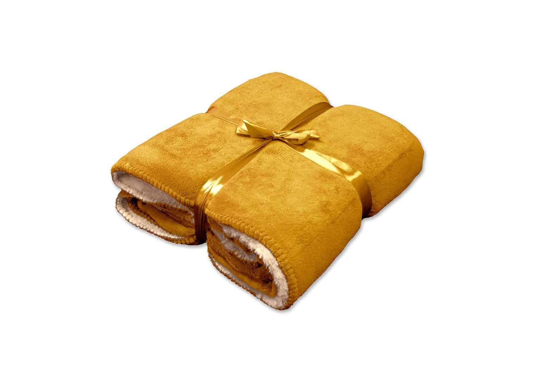 Pled / koc dekoracyjny Coby złoty blask 160cm