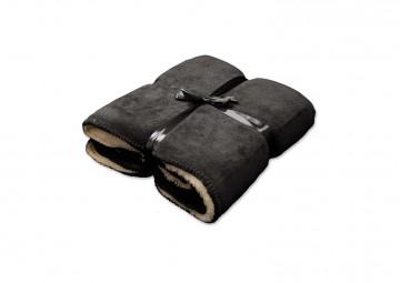 Pled / koc dekoracyjny Coby ciemnoszary 160cm