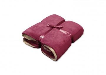 Pled / koc dekoracyjny Coby czerwony różany 160cm