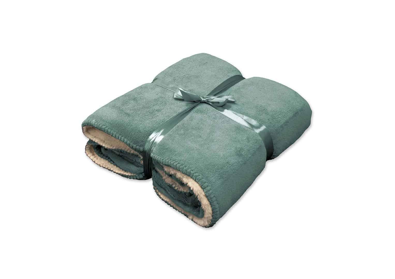 Pled / koc dekoracyjny Coby mineralny niebieski 160cm