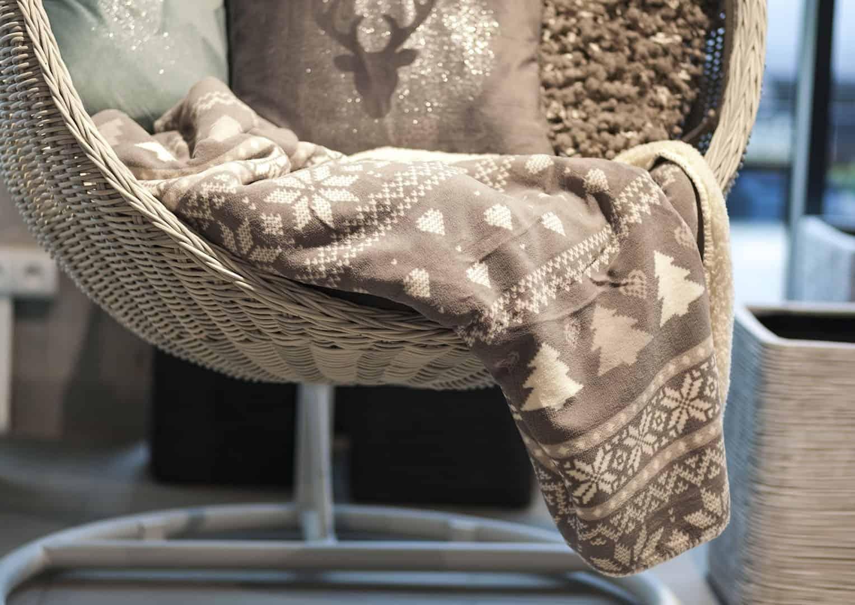 Pled / koc dekoracyjny Wonderful szary 160cm