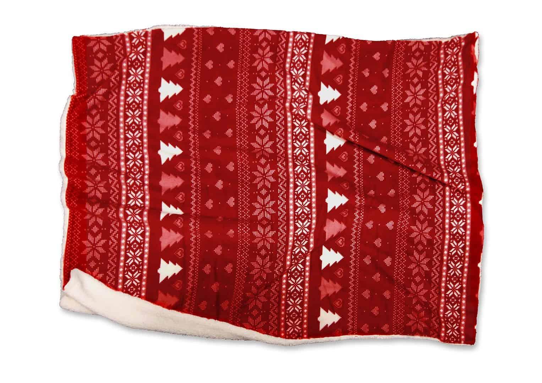 Pled / koc dekoracyjny Wonderful czerwony 160cm