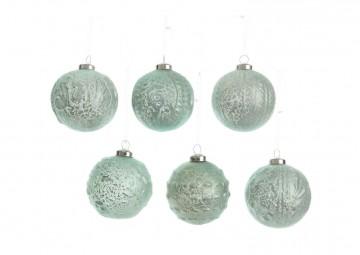Zestaw 6 bombek dekoracyjnych II