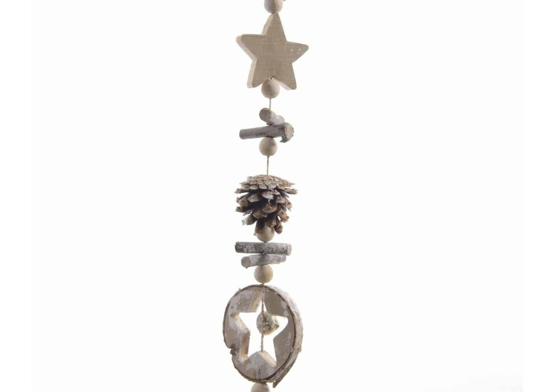 Girlanda świąteczna gwiazdami i szyszkami