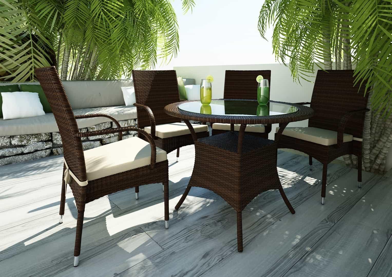 Zestaw ogrodowy stół i krzesła FILIP II