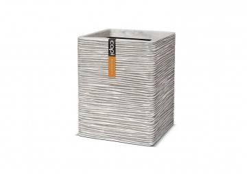meble na taras nowoczesne: Donica ogrodowa z cementu OFI902 31cm
