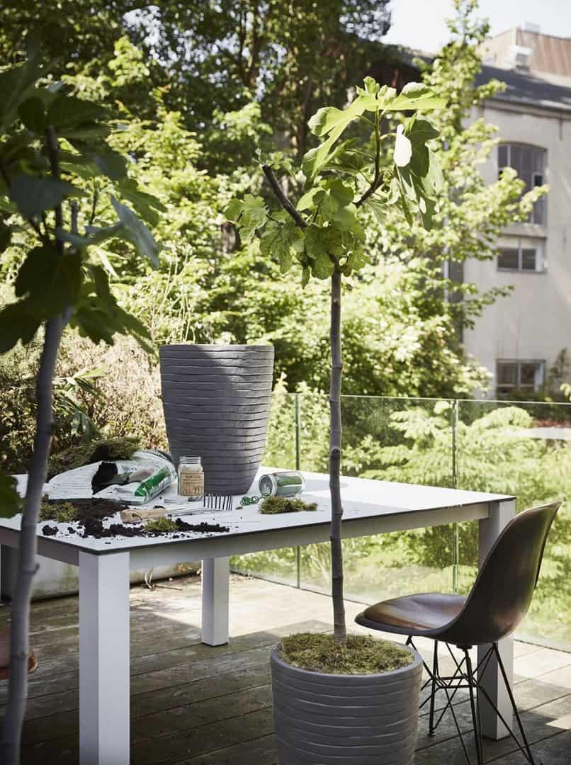 Donica ogrodowa z cementu OFI931 26cm