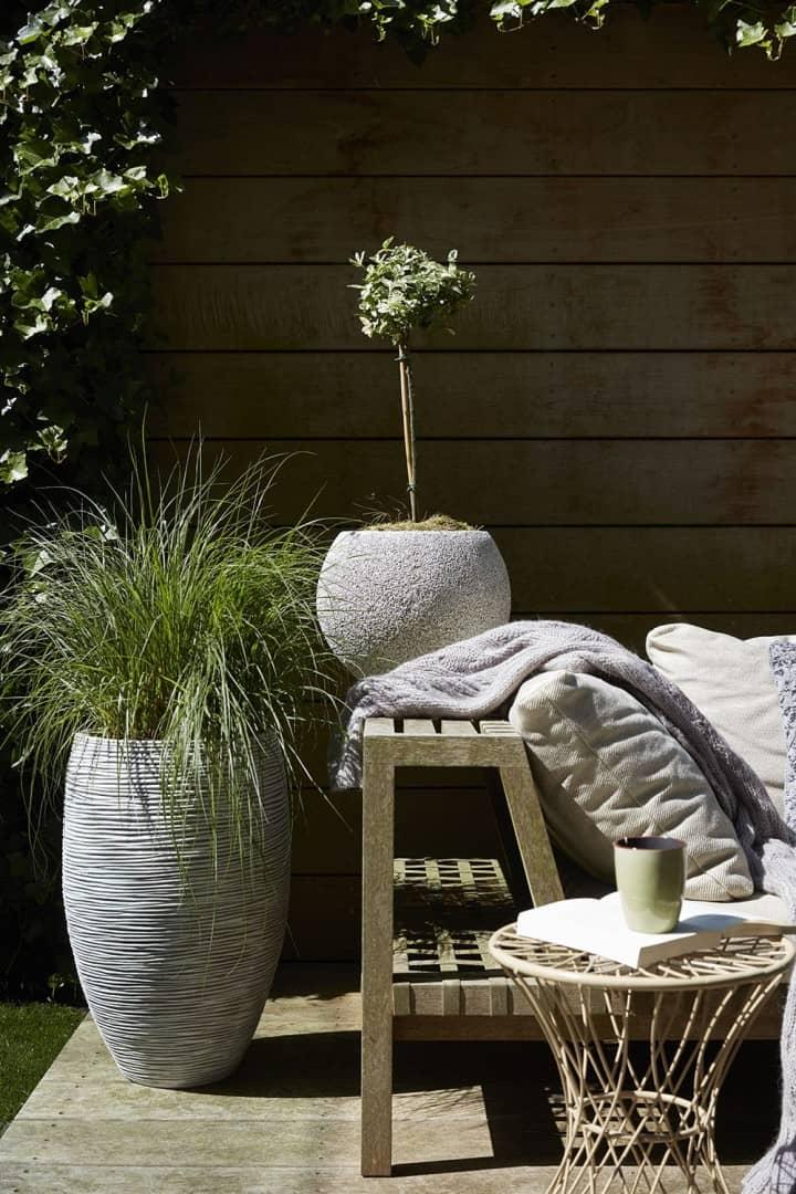 Donica ogrodowa z cementu RWG933 41cm