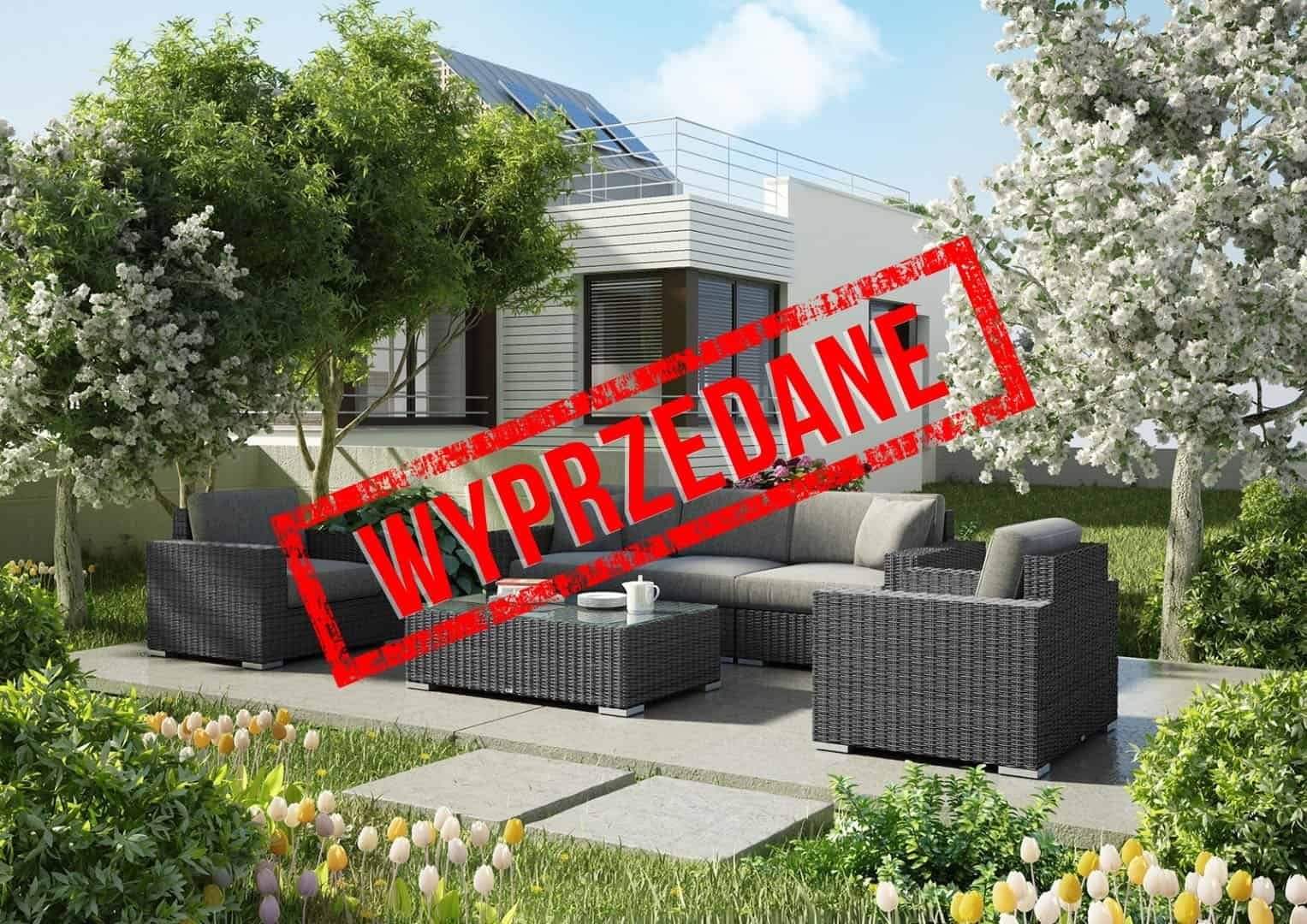 Meble ogrodowe MILANO Royal szary 1 OUTLET