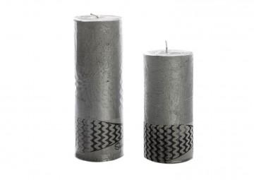 Zestaw 2 świec srebrnych