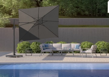 Parasole ogrodowe z boczną nogą: Parasol ogrodowy Falcon T²  2.7m x 2.7m