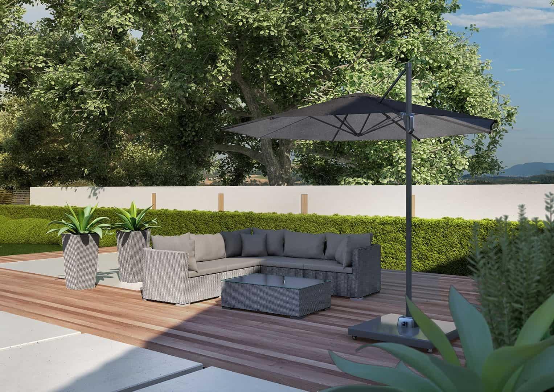 Inspiracje na nowoczesny ogród. Parasol ogrodowy CHALLENGER T² Ø 3.5m