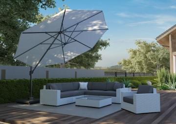 zestaw mebli ogrodowych z parasolem: Parasol ogrodowy Challenger T¹ Ø 3.5m