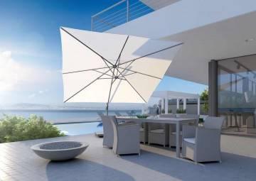 czarne parasole ogrodowe: Duży parasol tarasowy prostokątny Challenger T¹ 3m x 3m