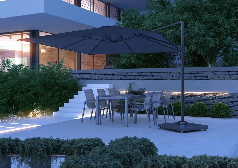 wyposażenie ogrodu: parasol CHALLENGER