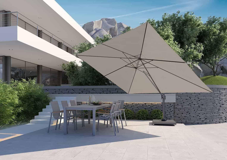 Parasol ogrodowy z regulowanym daszkiem Challenger T¹ Premium 3m x 4m