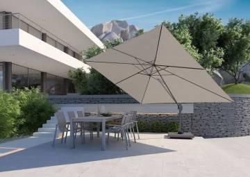 zestaw mebli ogrodowych z parasolem: Parasol ogrodowy z regulowanym daszkiem Challenger T¹ Prem...
