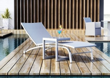 Leżak ogrodowy SEVILLA 3 ze stolikiem OUTLET