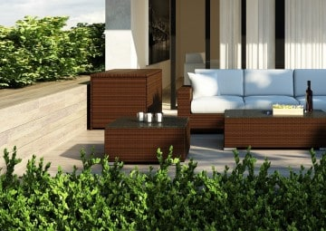 Skrzynia ogrodowa 160cm SCATOLA Modern brąz 2 OUTLET