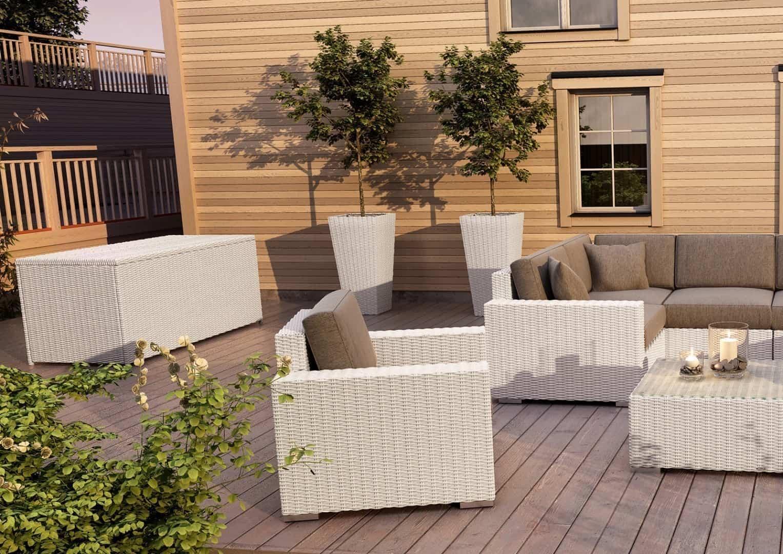 Skrzynia ogrodowa 160cm SCATOLA Royal biały 1 OUTLET