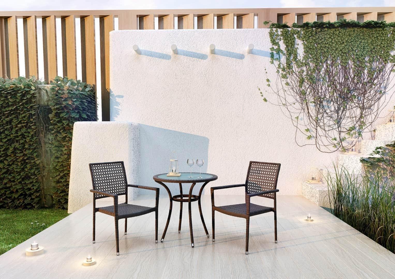 Zestaw mebli ogrodowych AVEIRO Modern brąz 1
