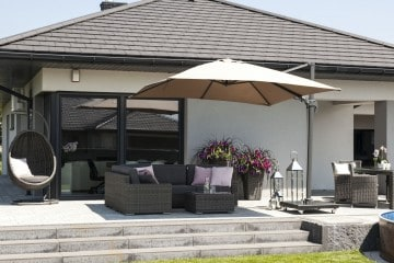 Parasol ogrodowy Solarflex T² 3 x 3 Taupe 1 OUTLET