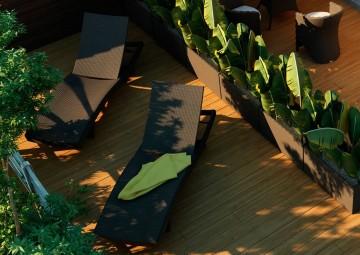 Leżak ogrodowy MARA  Royal brąz 2 OUTLET