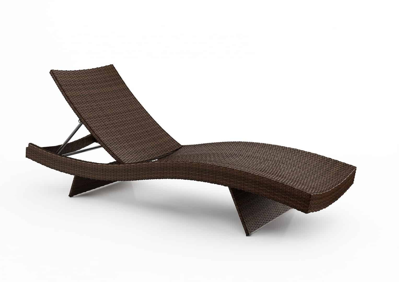 Leżak ogrodowy MARA Modern brąz 1 OUTLET
