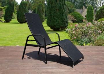 Leżak ogrodowy SWING Modern czarny OUTLET