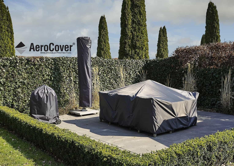 """Pokrowiec ogrodowy w kształcie """"L"""" 255x255x100x70cm 7941"""