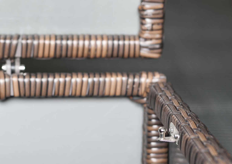 Skrzynia ogrodowa 100cm SCATOLA Modern brąz 3 OUTLET