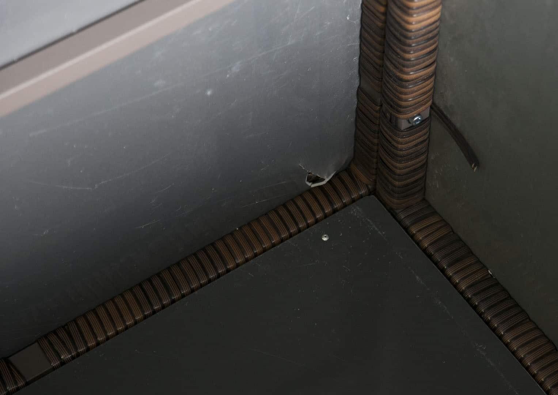 Skrzynia ogrodowa 100cm SCATOLA Modern brąz 5 OUTLET