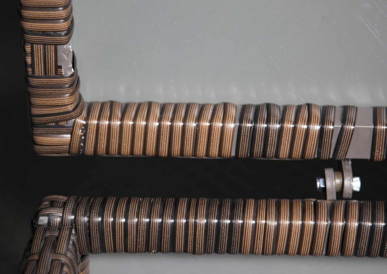 Skrzynia ogrodowa 100cm SCATOLA Modern brąz 9 OUTLET