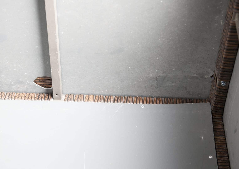 Skrzynia ogrodowa 100cm SCATOLA Modern brąz 10 OUTLET