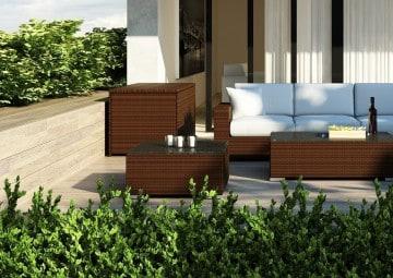 Skrzynia ogrodowa 160cm SCATOLA Modern brąz 7 OUTLET