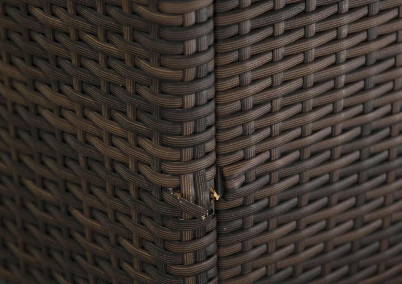 Skrzynia ogrodowa 160cm SCATOLA Modern brąz 8 OUTLET