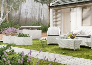 Skrzynia ogrodowa 160cm SCATOLA Royal biały 3 OUTLET