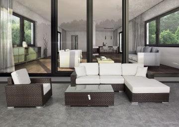 Meble ogrodowe MILANO Modern brąz 5 OUTLET