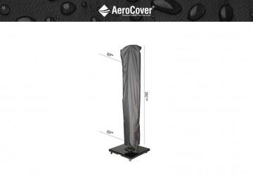 parasol ogrodowy: Pokrowiec na parasol ogrodowy z nogą boczną 292x65cm