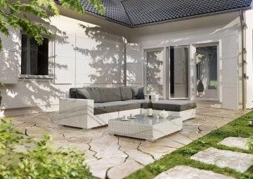 Meble ogrodowe MILANO I Royal biały 2