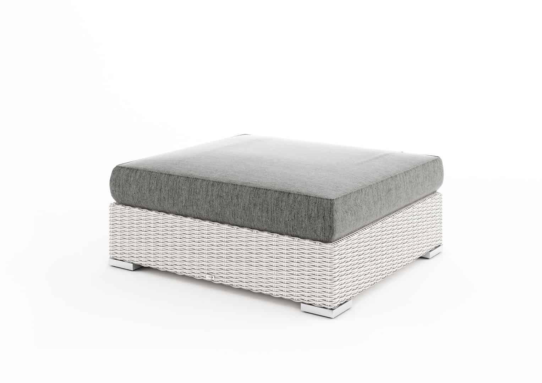 Stolik / puf MILANO II (z szybą i poduszką)