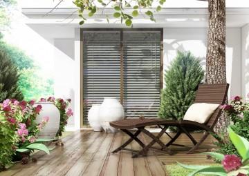 Meble balkonowe PORTO z podnóżkiem
