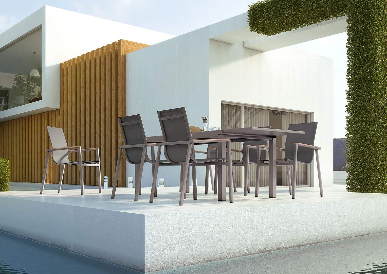 Meble do kawiarni - stół ogrodowy TOLEDO STONE&WOOD