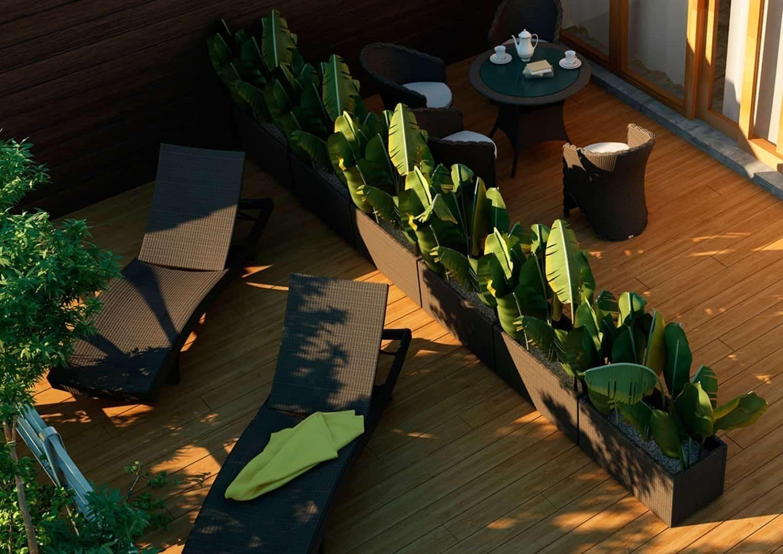 duże donice na taras donica ogrodowa Rubic Modern
