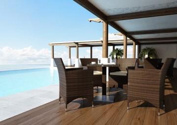 Fotel na balkon AMANDA Modern brąz