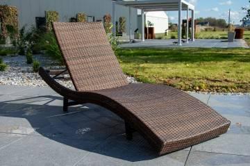 Leżak ogrodowy MARA modern brown